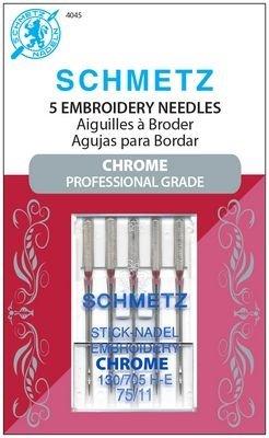 Schmetz Chrome Embroidery Needles 75/11