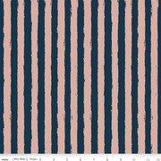 Blush Stripe Sparkle Blue