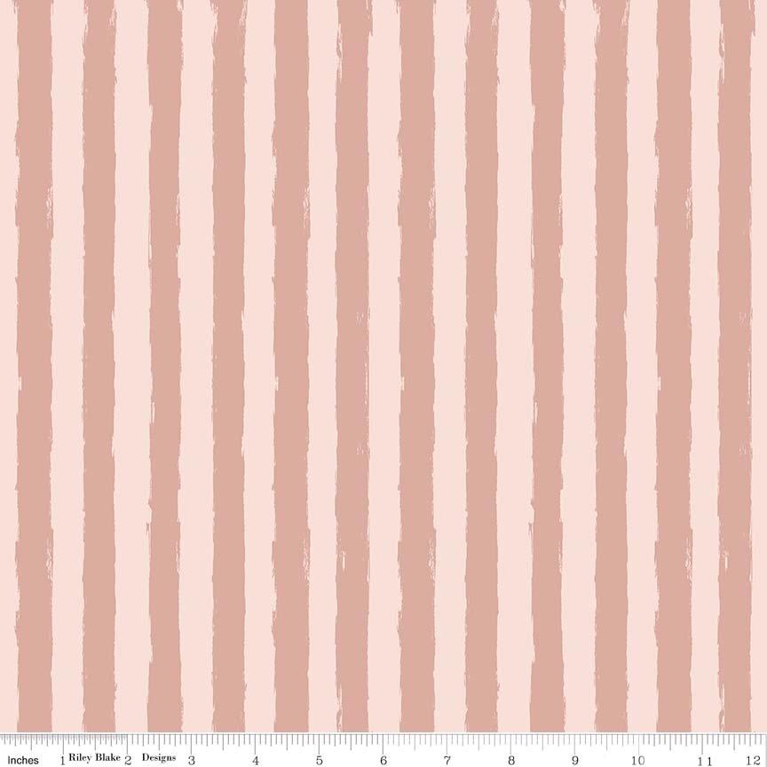 Blush Stripe Sparkle Pink