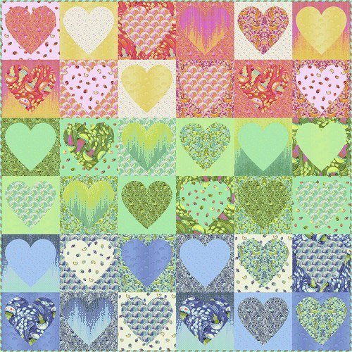 Faded Hearts Kit by Tula Pink