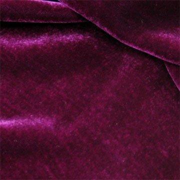 Silk/Rayon Velvet - Iridescent Red Plum