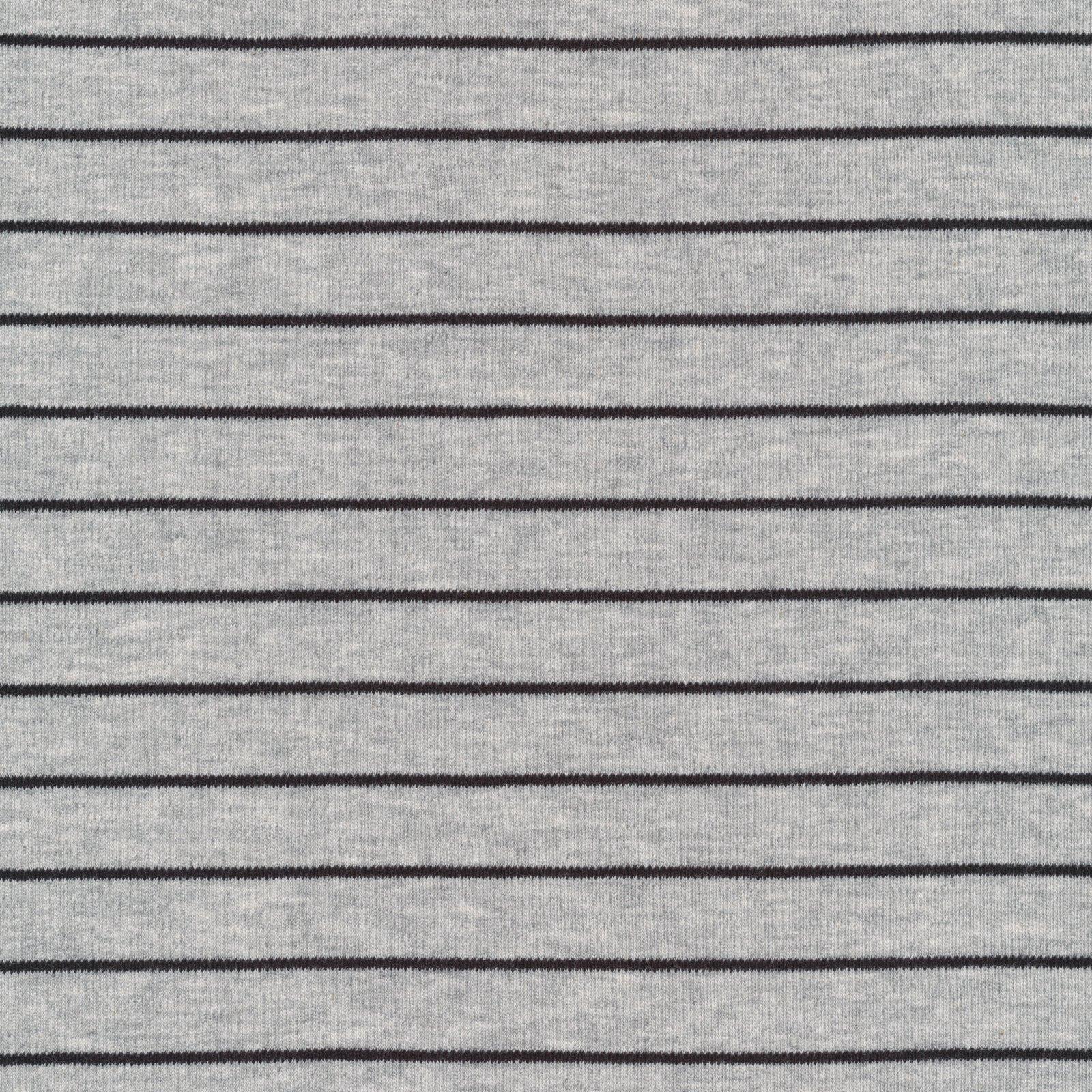 Cloud 9 - Organic Cotton Knit - Stripes - Heather Gray