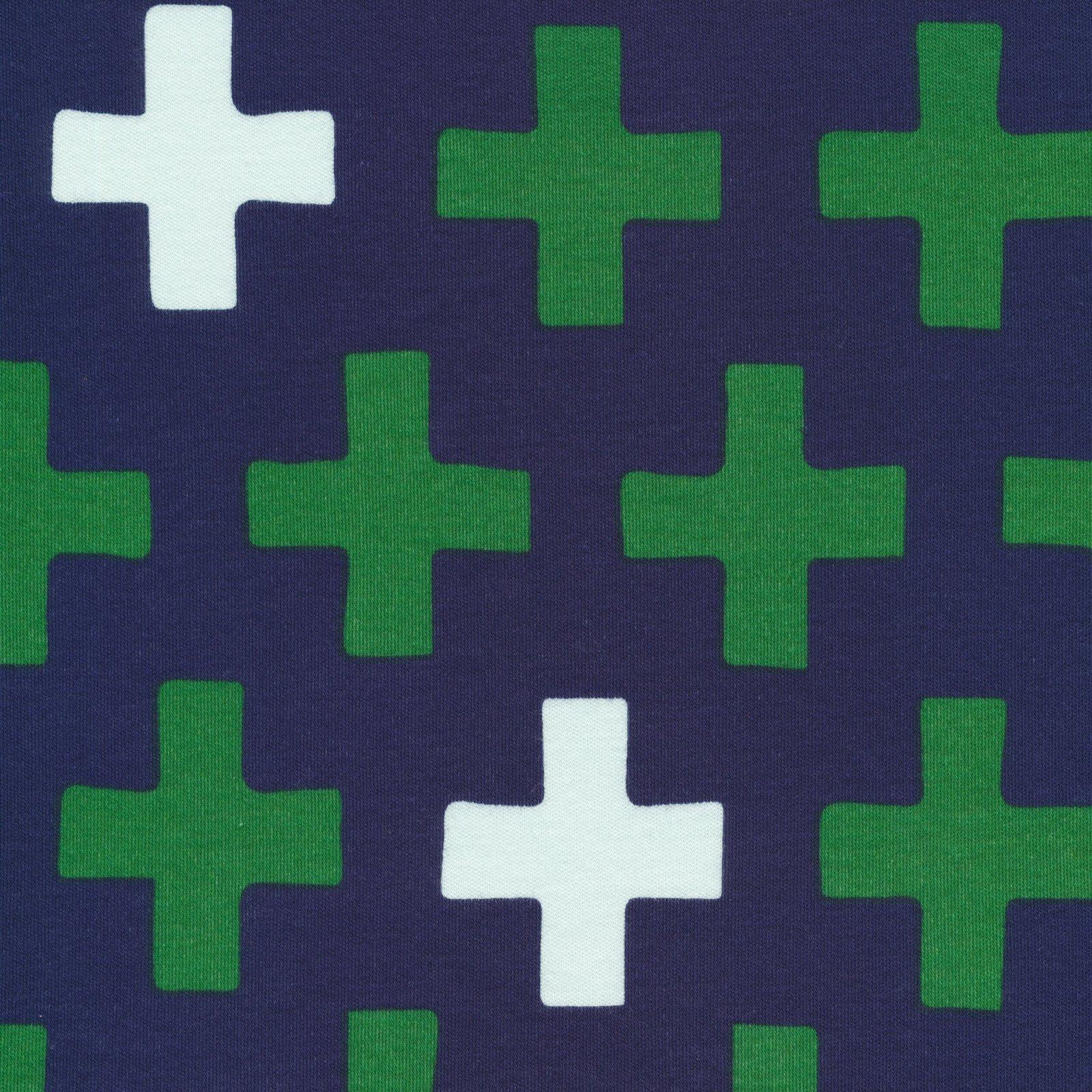 Cloud 9 - Organic Cotton Knit - Cross - Navy