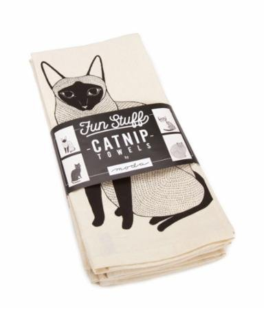 Gingiber Catnip Tea Towels