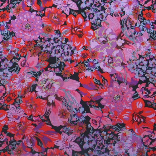 Printed Silk Charmeuse - Painted Floral