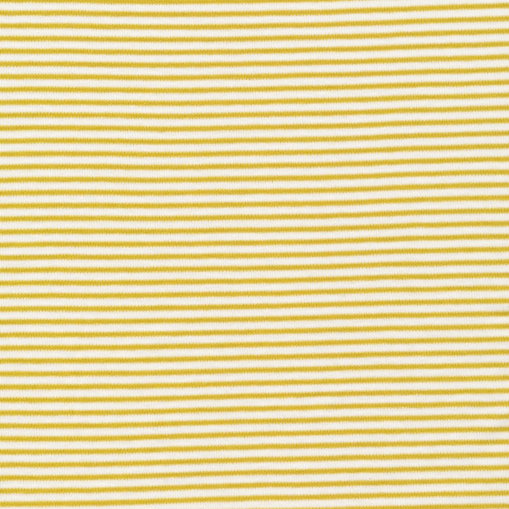 Cloud 9 - Organic Cotton Interlock - Thin Stripe - Citron
