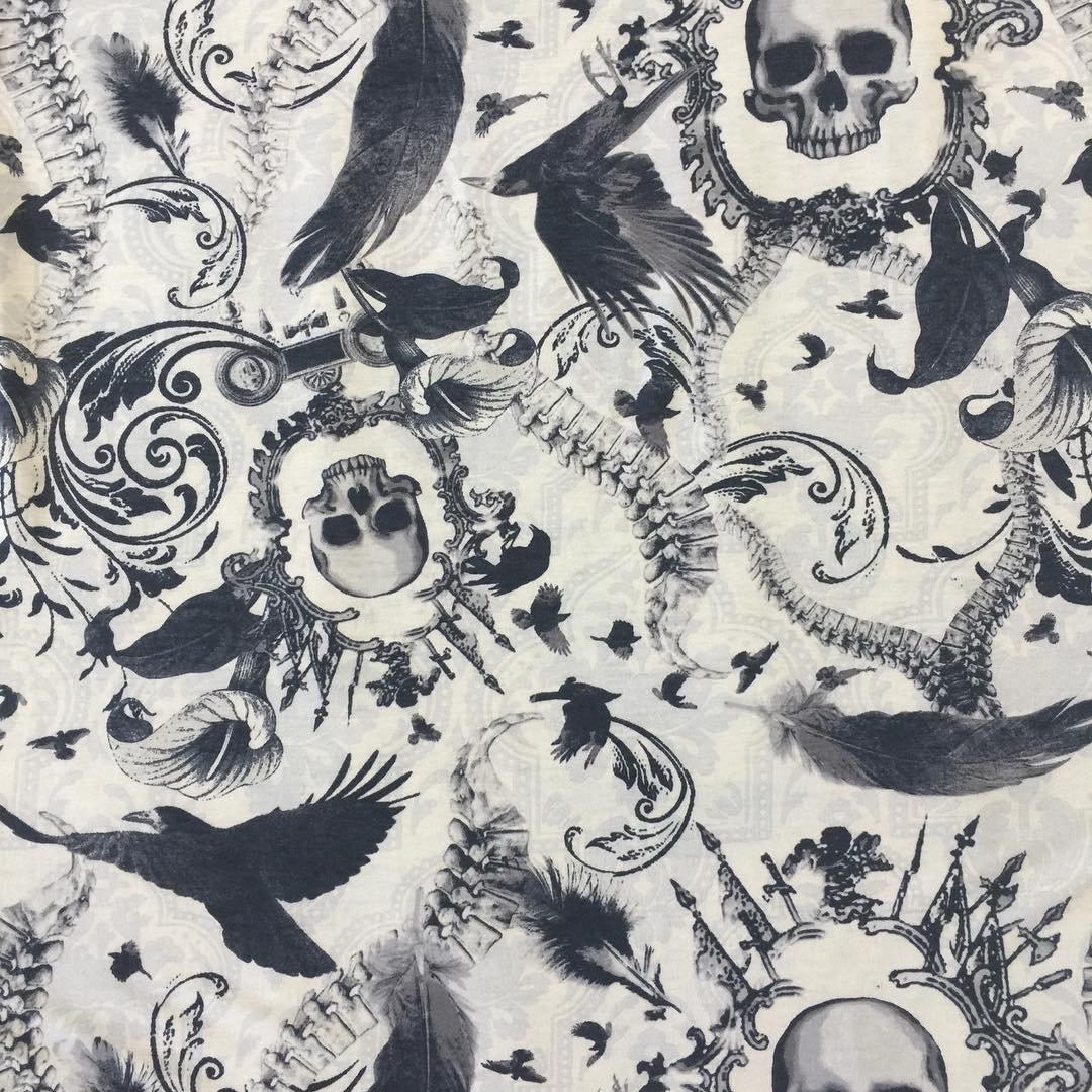 Rayon Jersey - Gothic Print