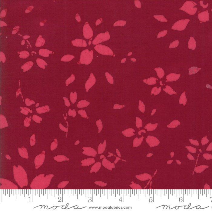 Bazaar Rayon Batik - Flower Petals - Magenta