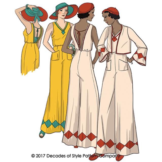 1930's Last Resort Beach PJs - #3015