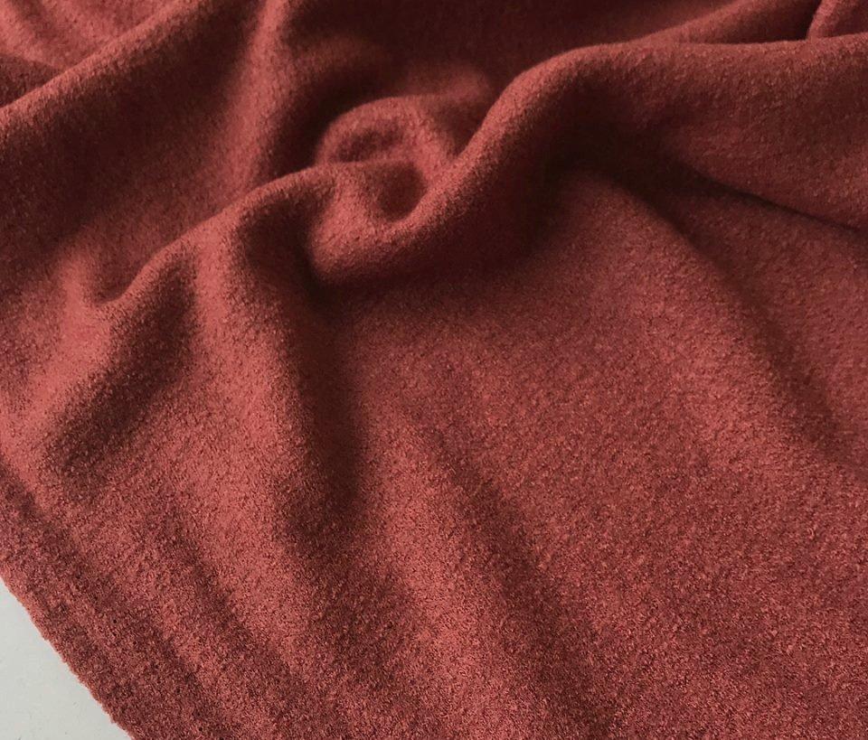 *PREORDER* Boiled Wool/Viscose - Brick