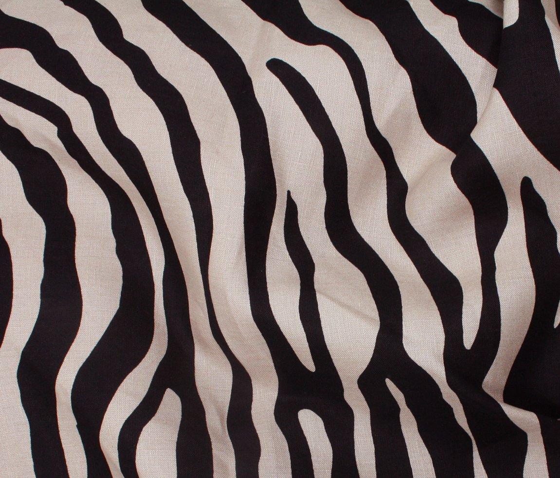 Linen Print - Zebra