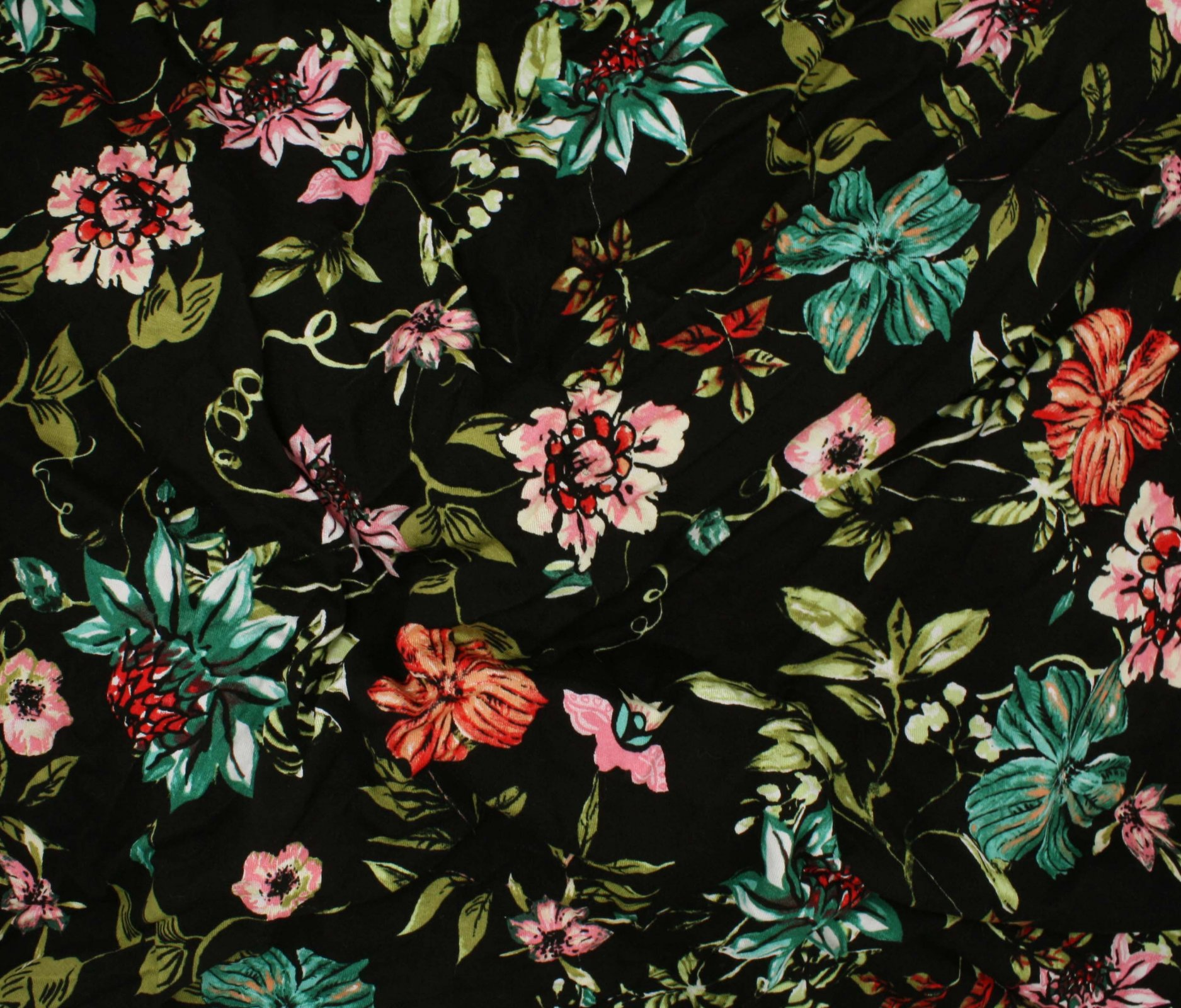 Dakota Knit Print - Wildflower Blooms - Black