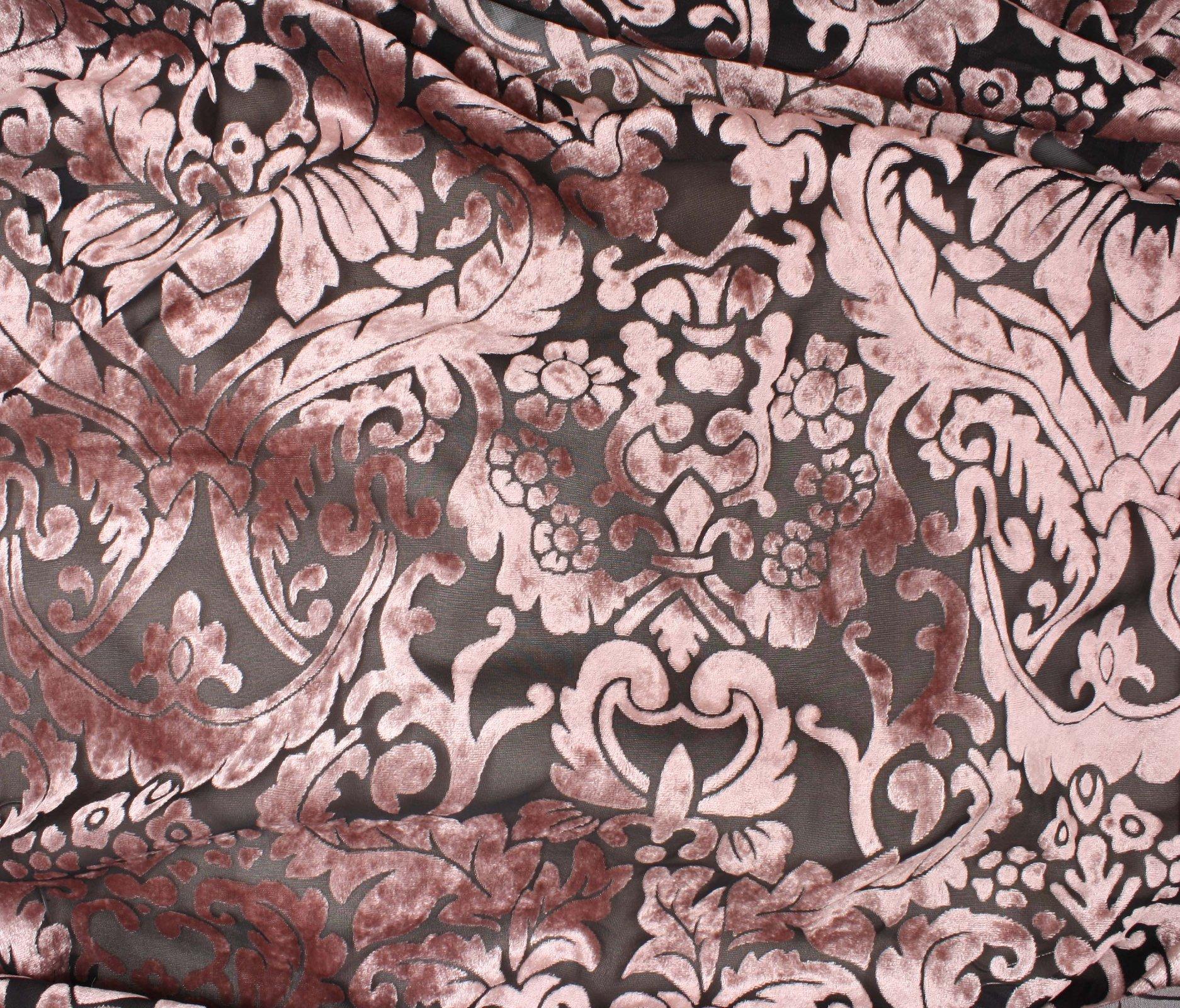 Velvet Devore - Blush Ornamental