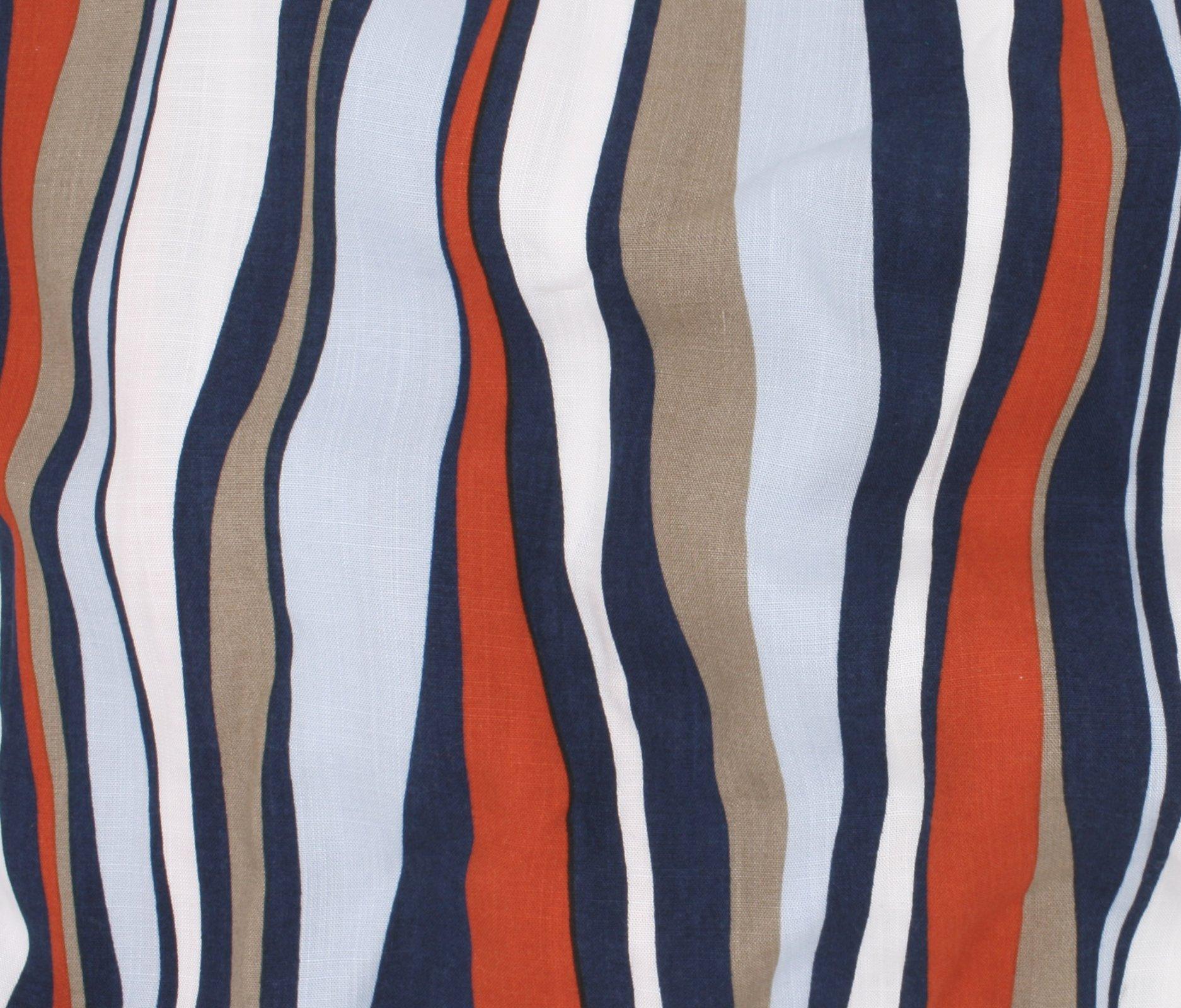 Kahlo Uneven Stripe Rayon - Orange