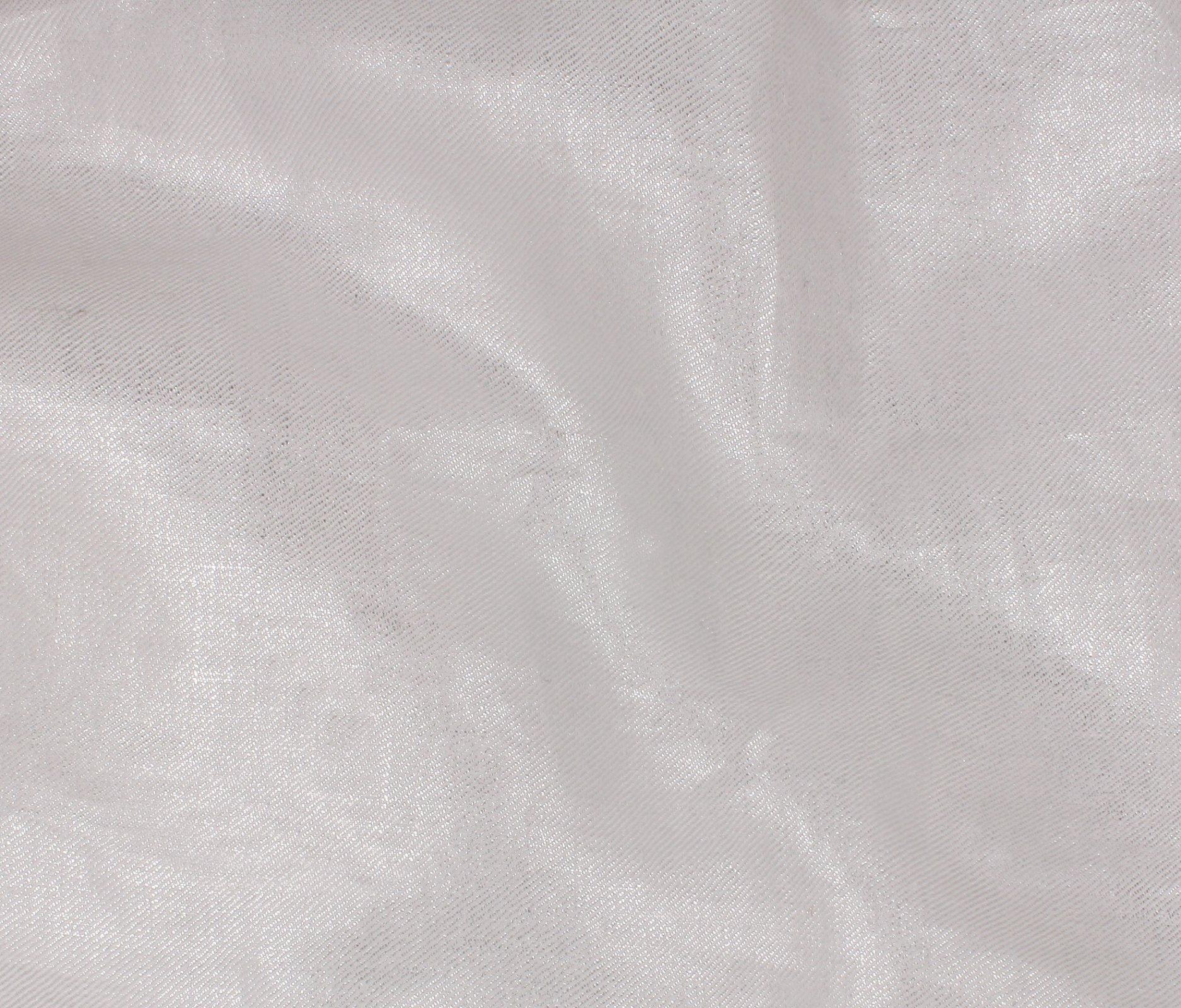 Azure Shine Linen - White/Silver