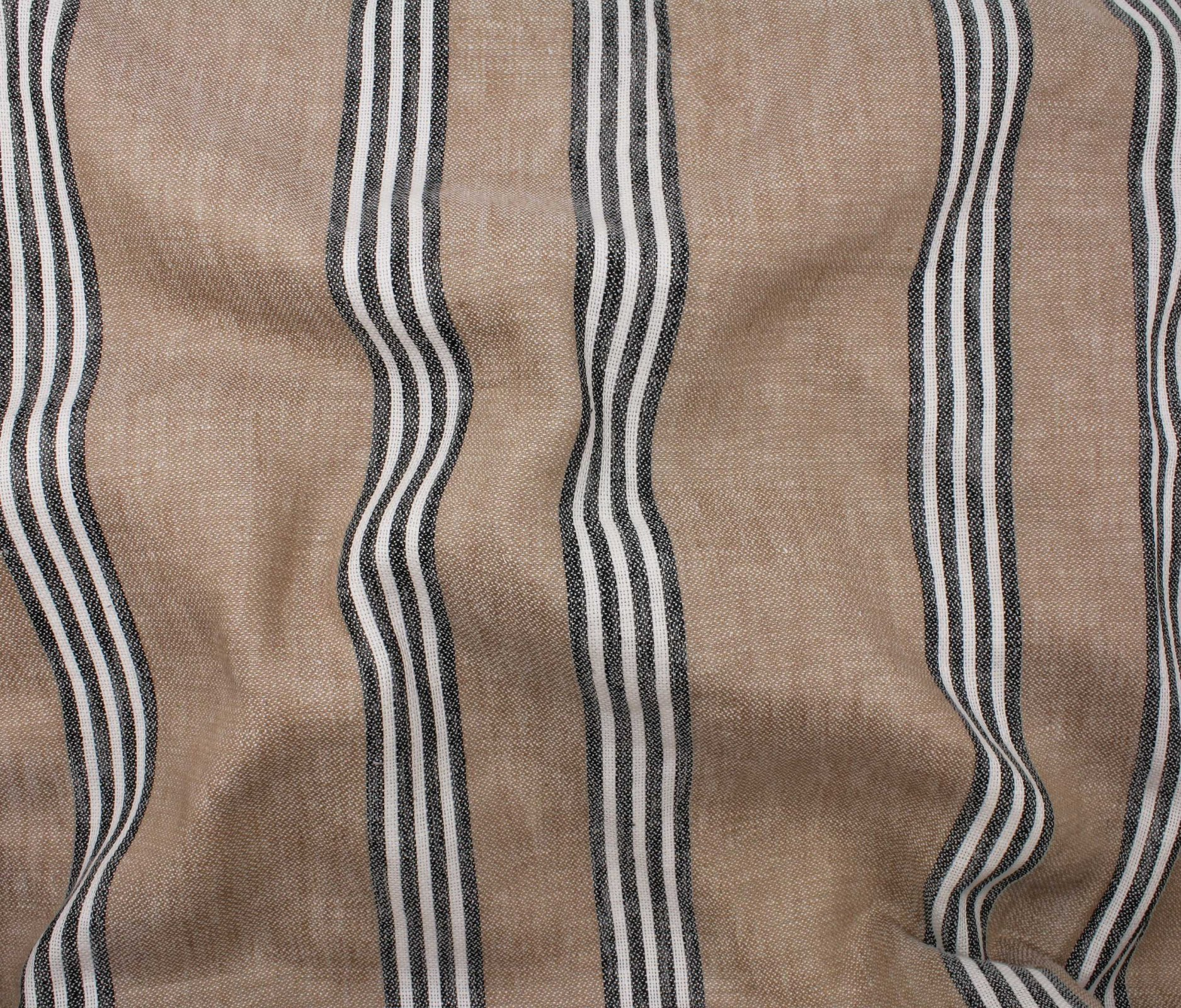 Canyon Stripe Linen/Cotton - Pecan