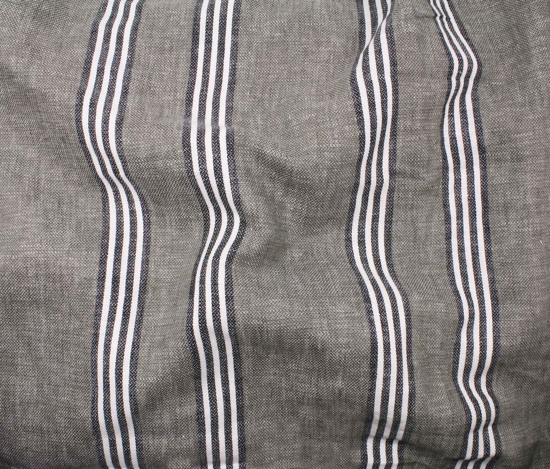 Canyon Stripe Linen/Cotton - Khaki
