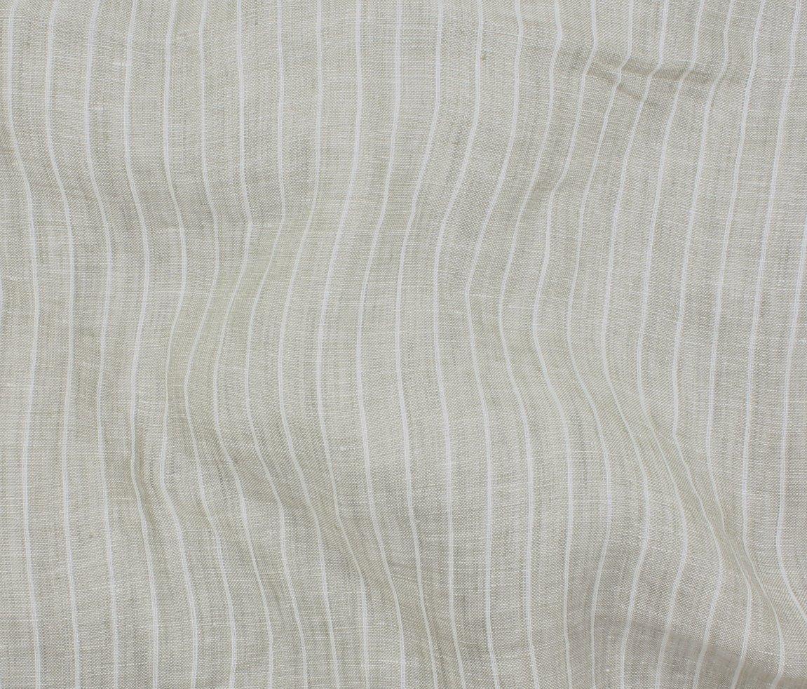 Tuscany Pinstripe Chambray Linen - Natural