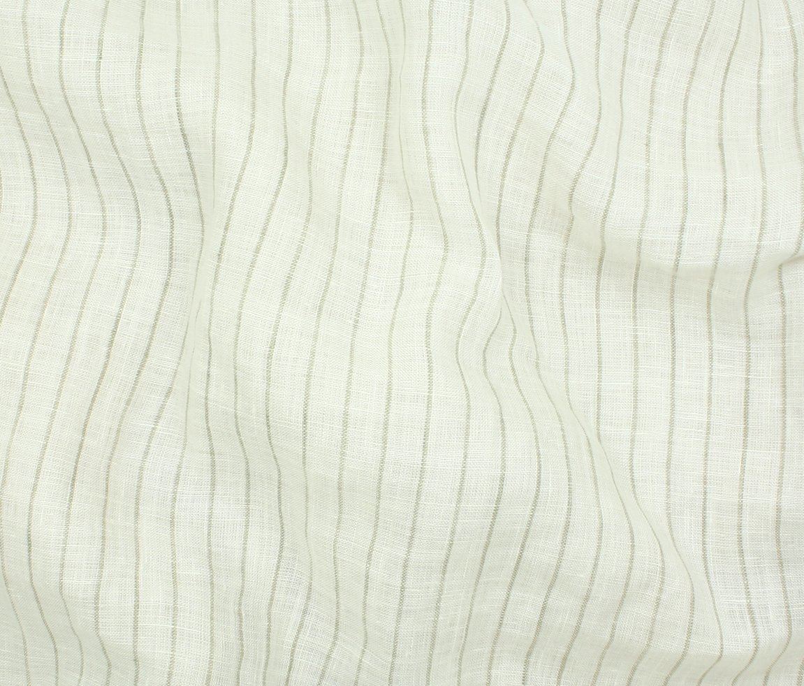 Tuscany Pinstripe Linen - Natural Stripe