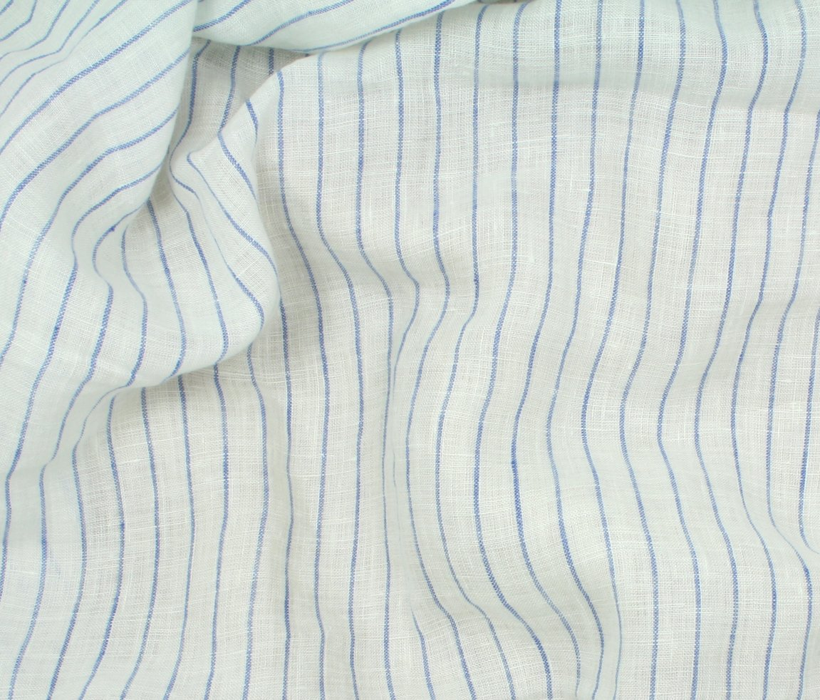 Tuscany Pinstripe Linen - Royal Stripe