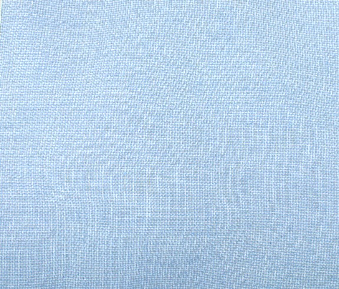 Umbria Linen Check - Light Blue