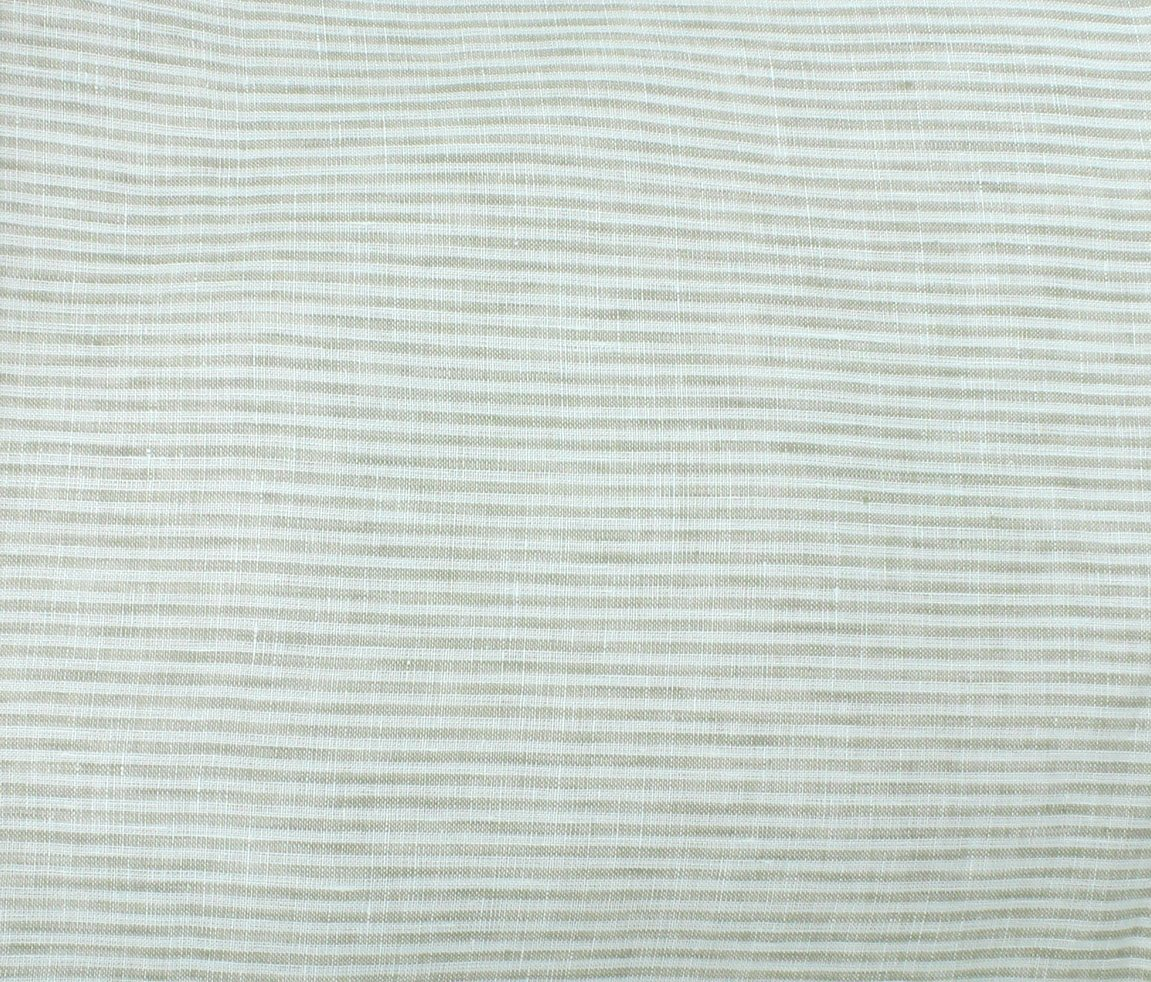 Umbria Linen Big Stripe - Taupe