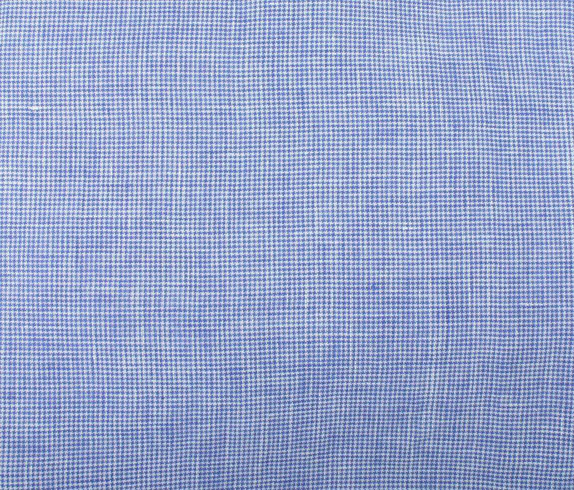 Umbria Linen Check - Blue