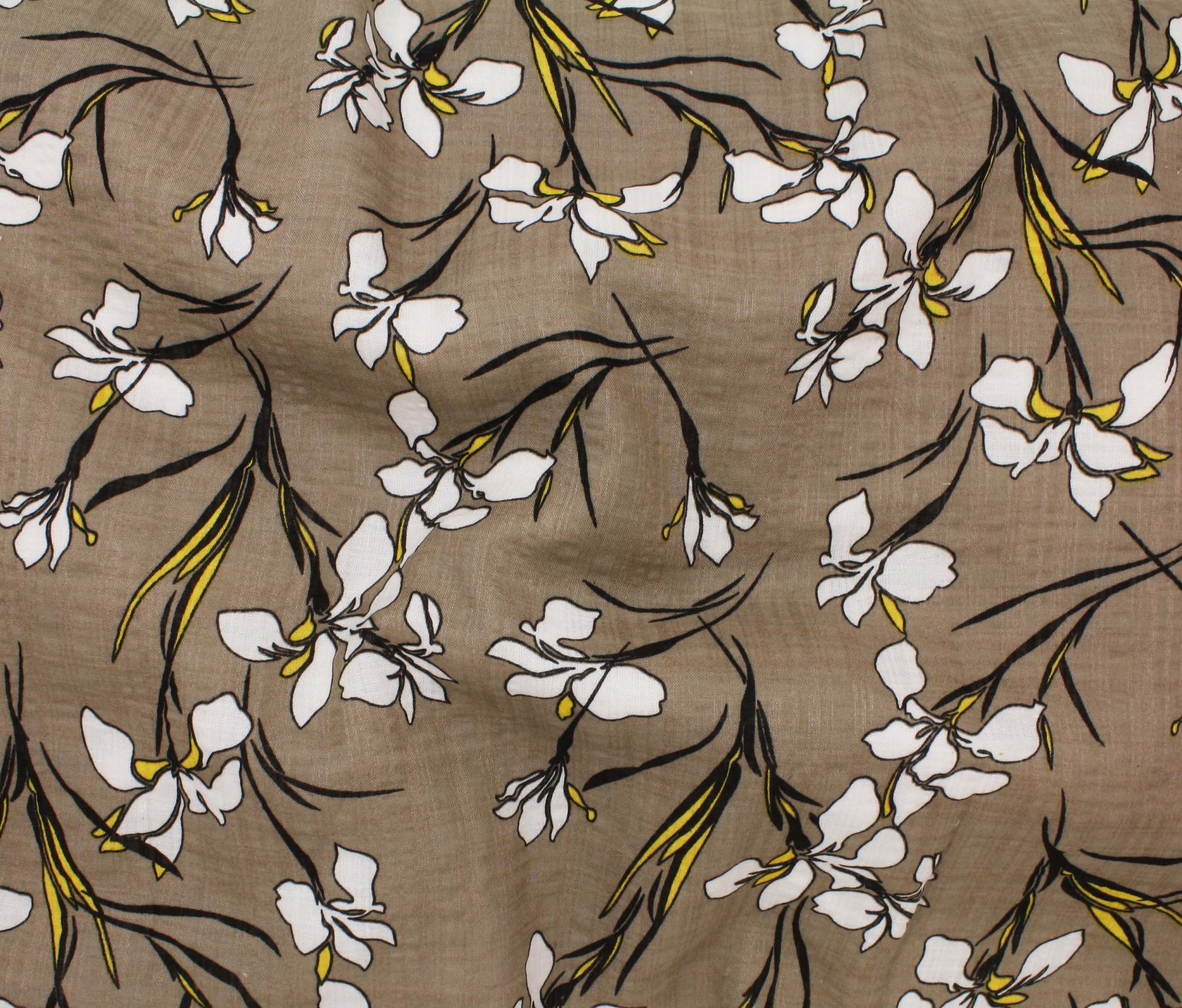 detailed look e0dc1 9bbfc Iris Blossoms Cotton Rayon Voile - Sand