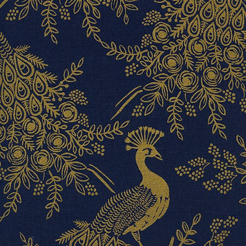 Menagerie by Rifle Paper Co. Canvas - Royal Peacock Navy