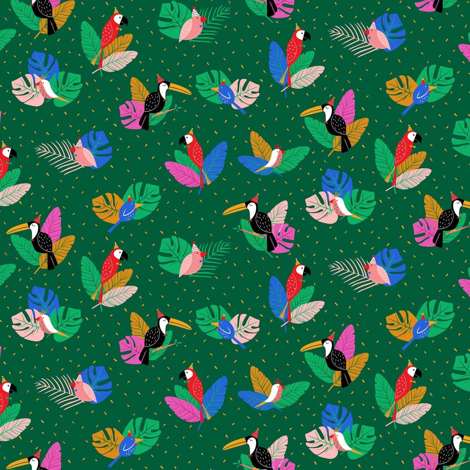 Figo Fabrics - Tropical Jammin' - Parrot Party