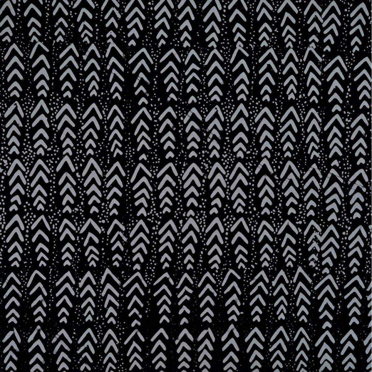 Rayon Batik - Geo Classics - Arrows - Black