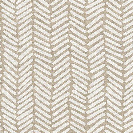 Arroyo Essex Linen - Chevron - Stone
