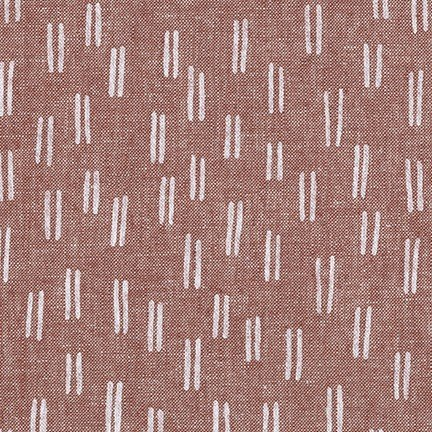 Balboa Linen/Cotton - Lines - Rust