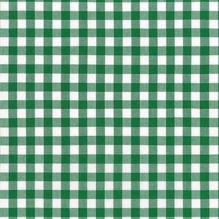 Kitchen Window Wovens - Small Gingham - Forest