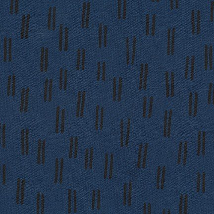 Balboa Linen/Cotton - Lines - Midnight