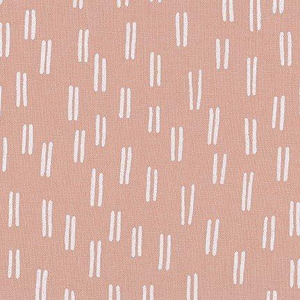 Balboa Linen/Cotton - Lines - Rose