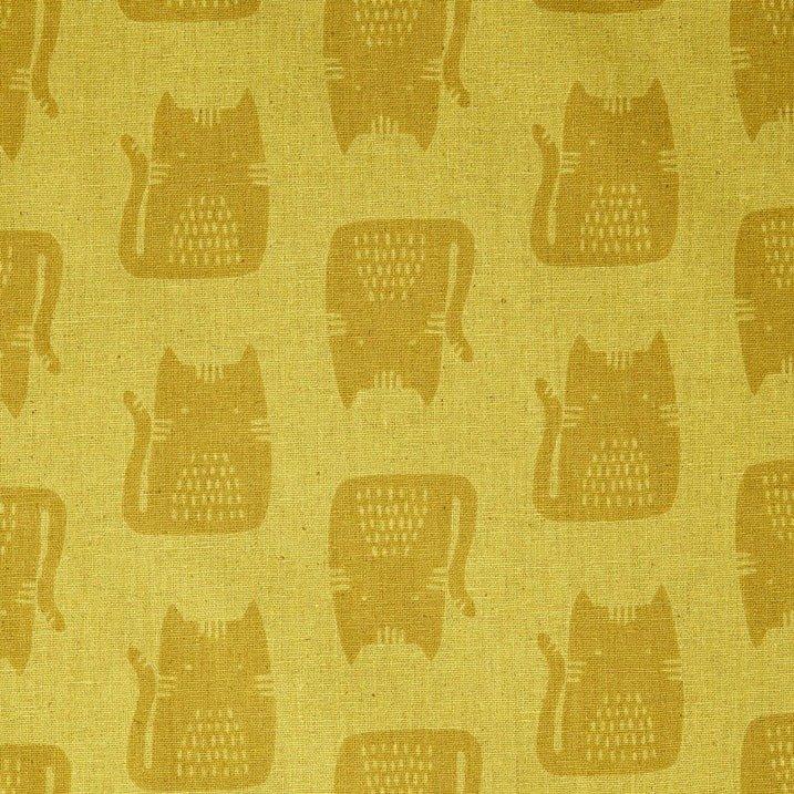 Maker Maker Linen/Cotton - Cats - Yellow