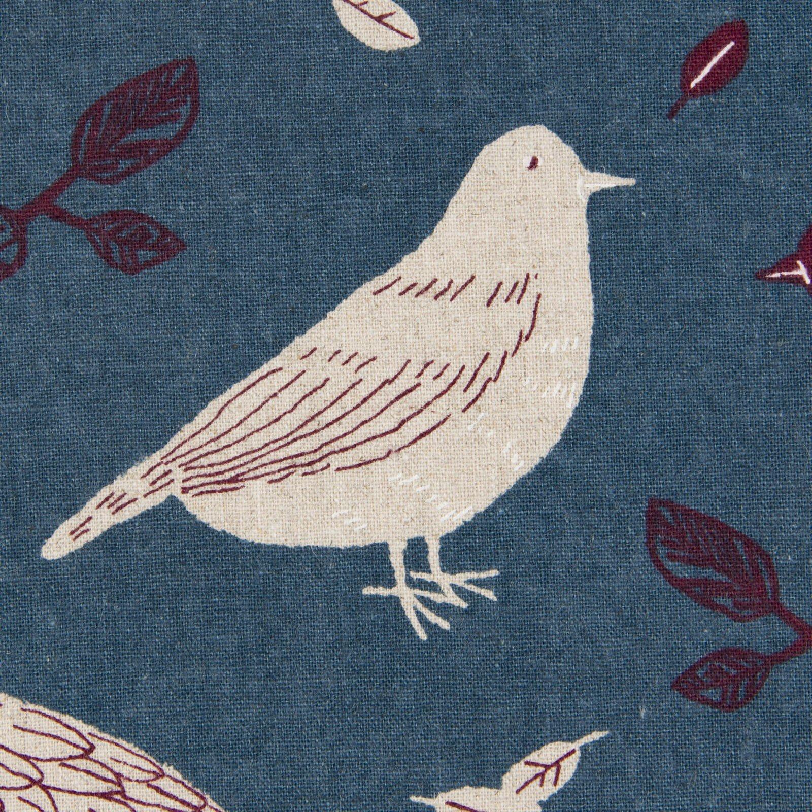 Cosmo - Linen/Cotton Canvas - Sketched Birds