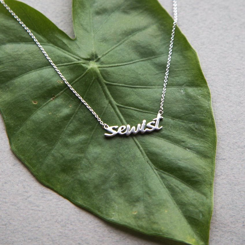 Sewist Necklace - Silver