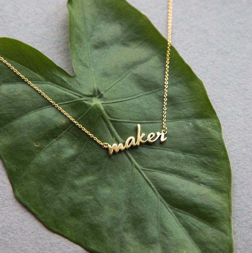 Maker Necklace - 18k Gold