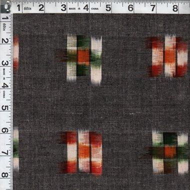 Checker Board Ikat - Grey Multi