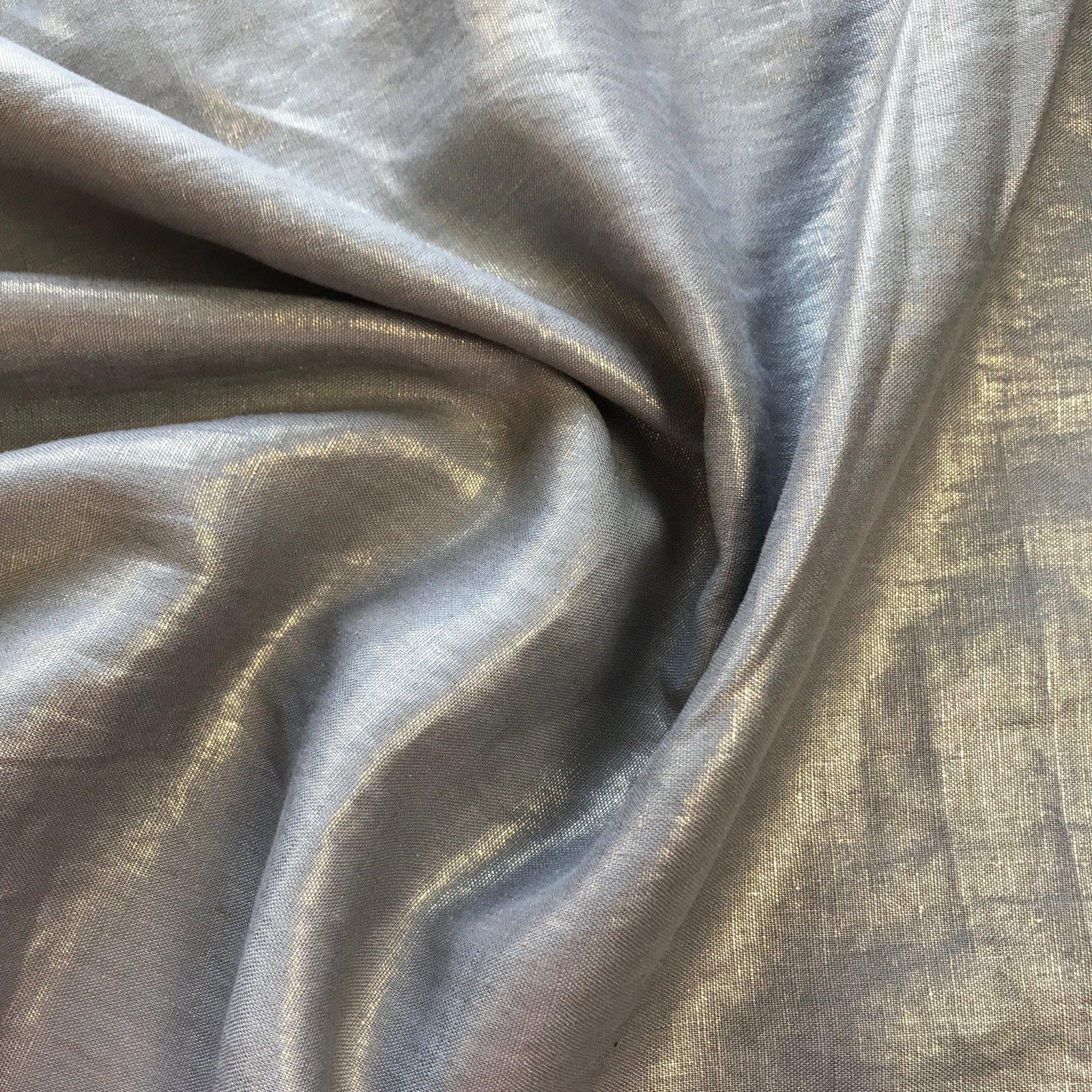 Nevada Linen - Metallic - Grey/Gold