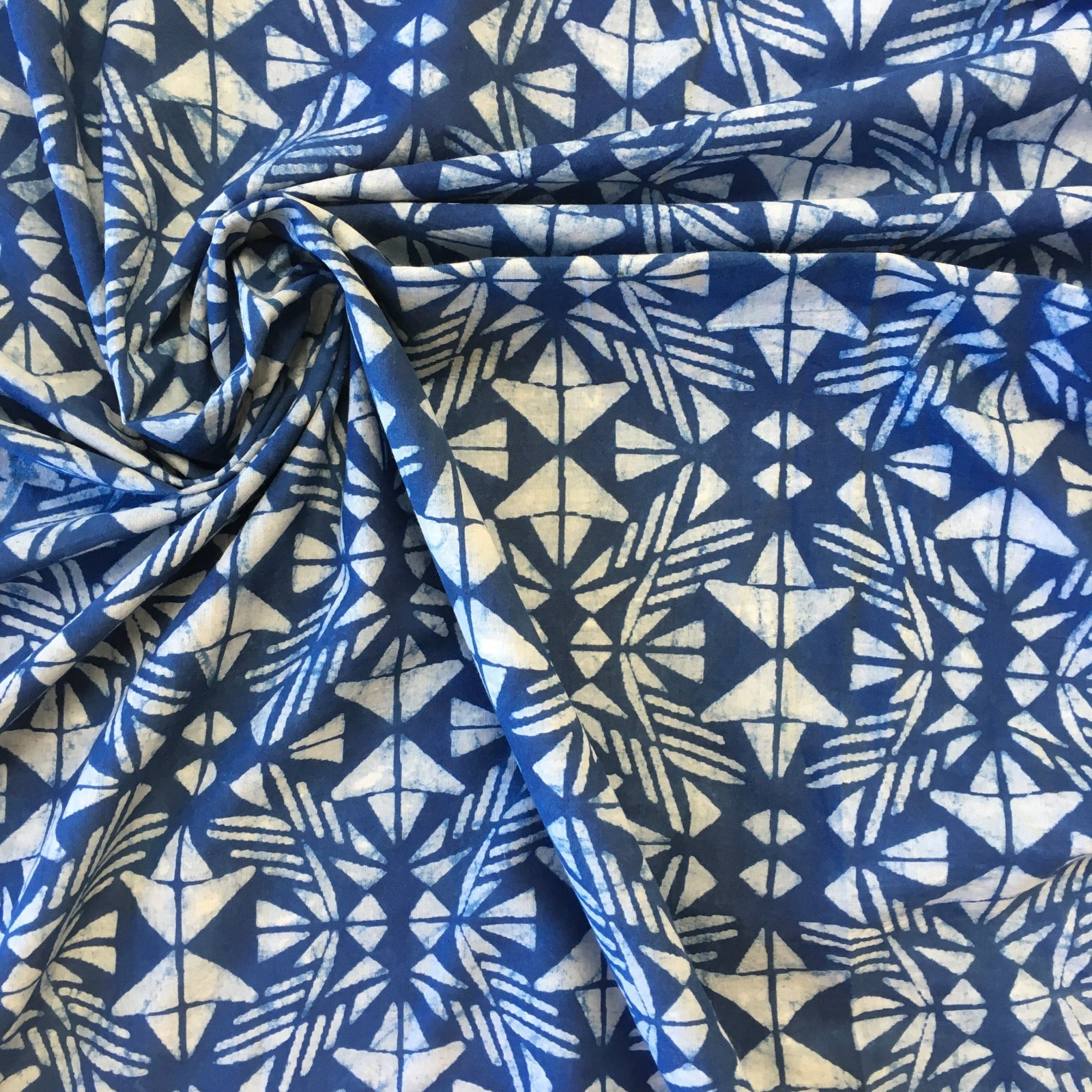 Indian Block Print Voile - Kaleidoscope