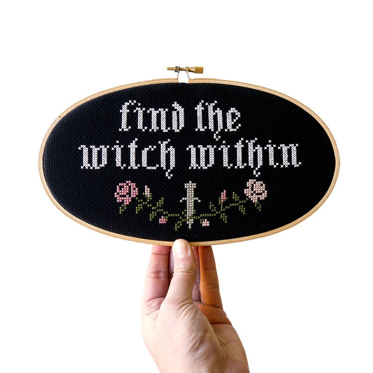 Junebug and Darlin Cross Stitch Kit - Find the Witch Within