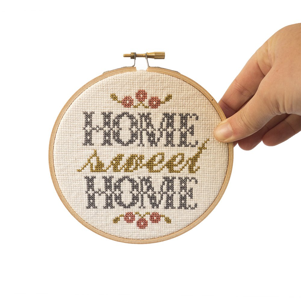 Junebug and Darlin Cross Stitch Kit - Home Sweet Home