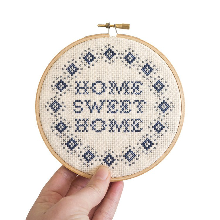 Junebug and Darlin Cross Stitch Kit - Home Sweet Home Simple