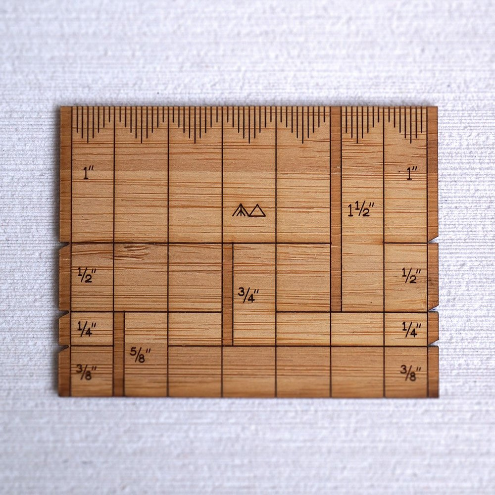 Arrow Mountain Bamboo Sewing Gauge