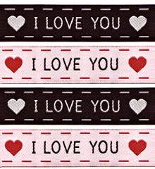 Sublime Stitching Woven Sew-In Labels - I Love You