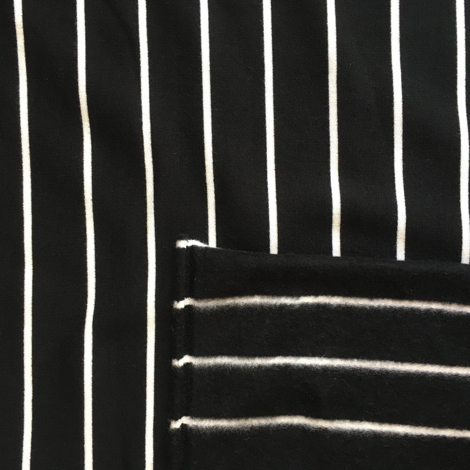 Modal Fleece - Black Stripe