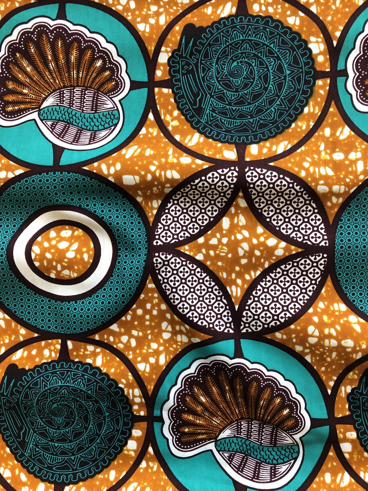 African Wax Print - Cowrie Shell